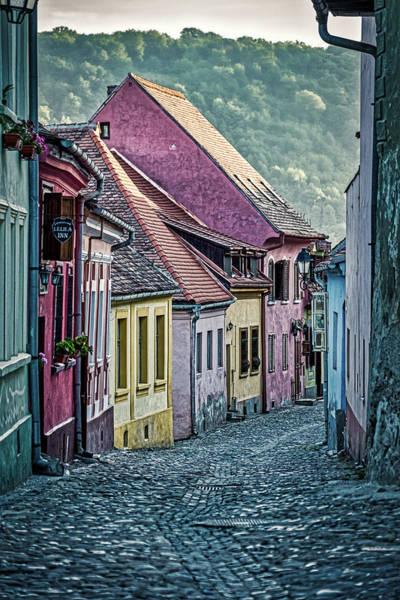 Photograph - Street In Sighisoara - Romania by Stuart Litoff