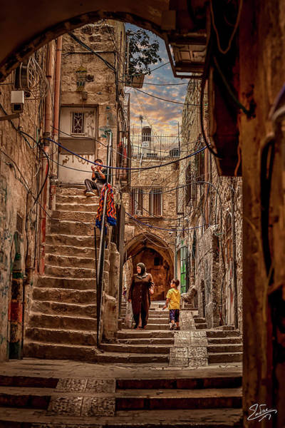 Photograph - Street In The Old Muslim Quarter by Endre Balogh