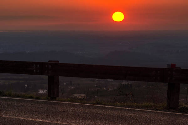 Photograph - Street Into A December Sunset by Wolfgang Stocker