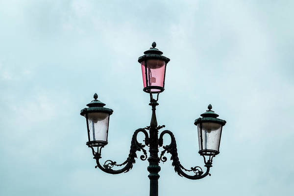 Photograph - Street Lamp Of Venice by Kay Brewer