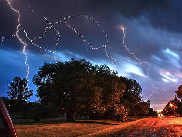 Photograph - Street Lightening by David Matthews