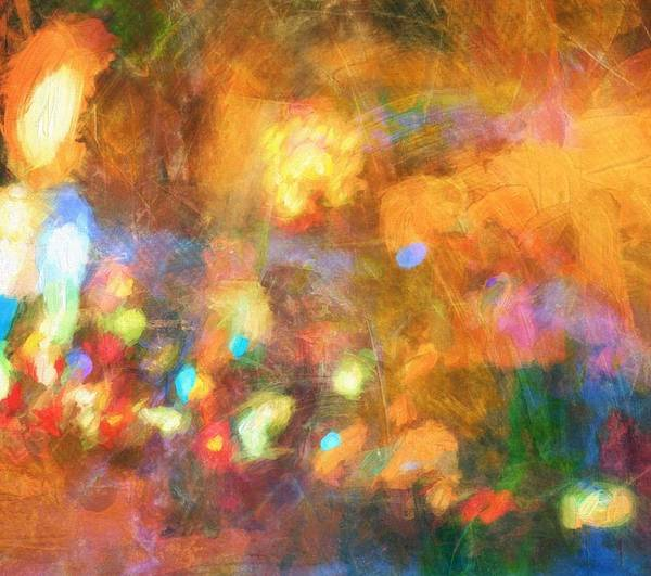 Wall Art - Painting - Street Lights Abstract by Dan Sproul
