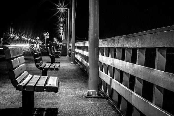 Santa Cruz Wharf At Night Art Print