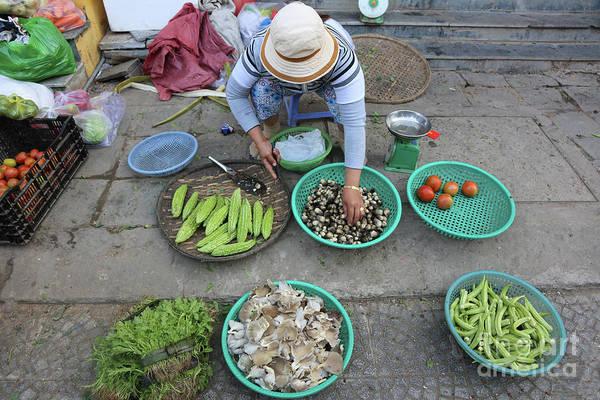 Hoi An Photograph - Street Merchant Fresh Daily  by Chuck Kuhn