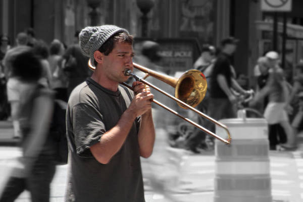 Busker Wall Art - Photograph - Street Music by Graham Ettridge