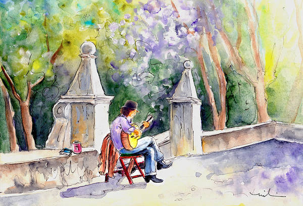 Painting - Street Musician In Pollenca by Miki De Goodaboom