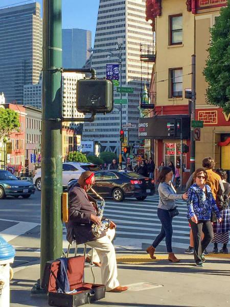 Photograph - Street Musician San Francisco by Bonnie Follett