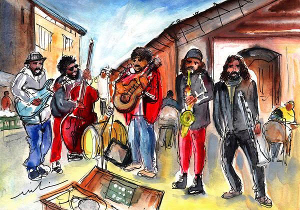 Painting - Street Musicians In Sineu In Majorca by Miki De Goodaboom