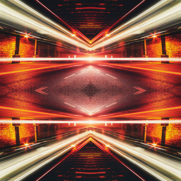 Time Exposure Wall Art - Photograph - Street Night Light Xtforce-tb by Philipp Rietz