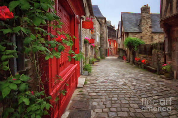 Photograph - Street Of Dinan 2 by Dominique Guillaume