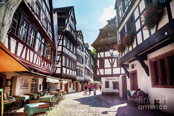 Photograph - street of Petit-France - part of old town, Strasbourg,  France,  by Ariadna De Raadt