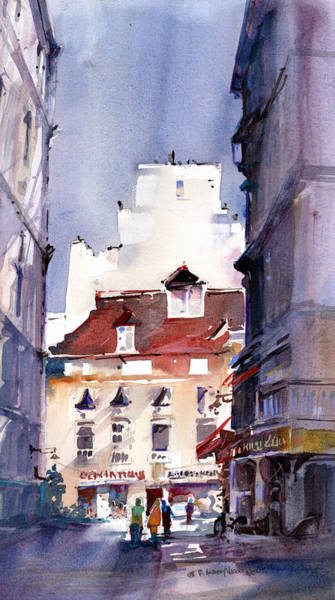 Painting - Parisian Stroll by P Anthony Visco