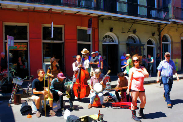 Wall Art - Photograph - Street Performer At New Orleans by Art Spectrum