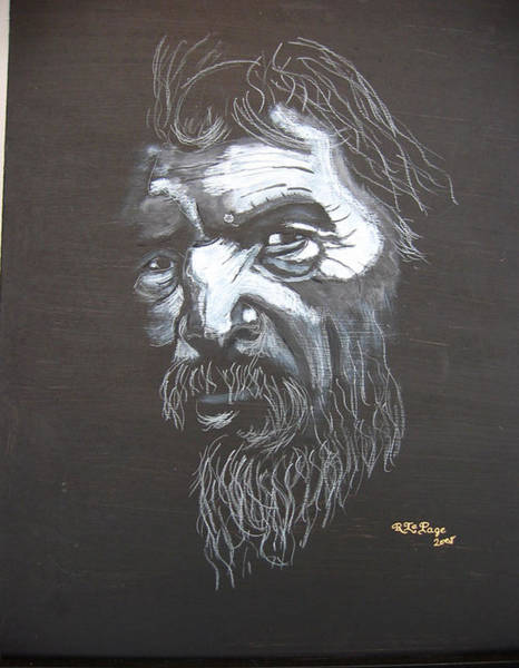 Painting - Street Person by Richard Le Page