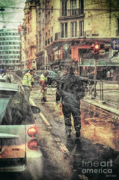 Photograph - Street Photography - Road Workers 2 by Nicole Philippi