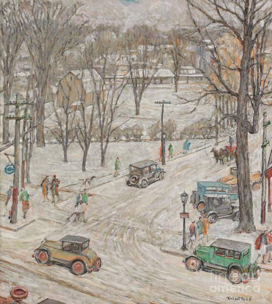 Traffic Painting - Street Scene In Winter by Robert Reid