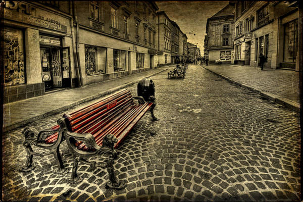 Empty Wall Art - Photograph - Street Seat by Evelina Kremsdorf