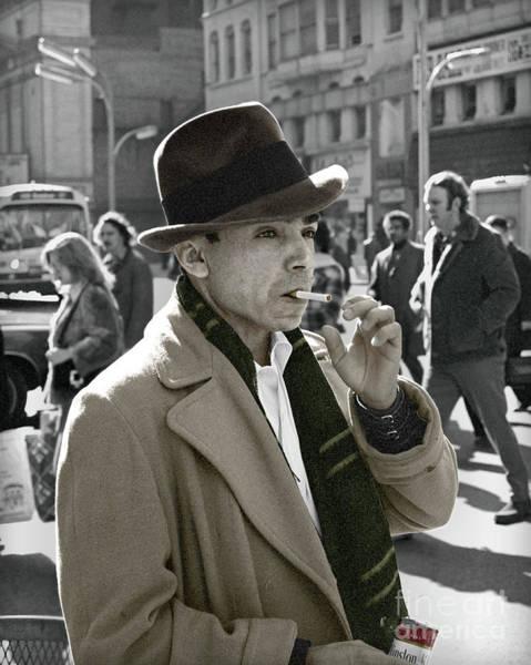 Photograph - Street Smoking Man by Martin Konopacki