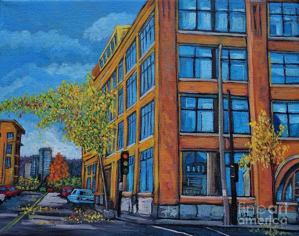 Montreal Street Scene Painting - Street Study Montreal by Reb Frost