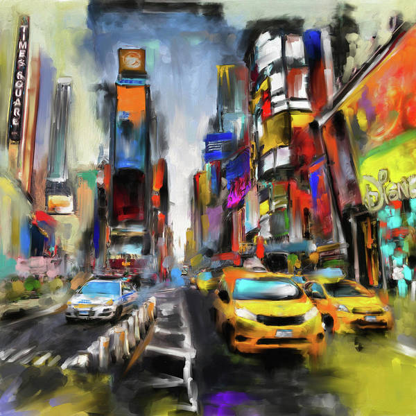 Time Square Painting - Street Symphonies V 462 1 by Mawra Tahreem