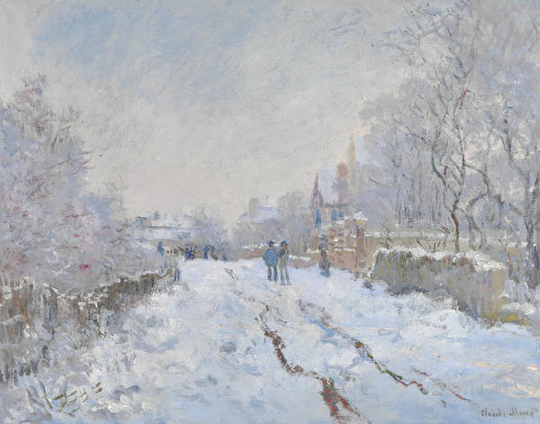 Painting - Street Under Snow, Argenteuil by Claude Monet
