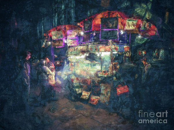 Street Vendor Food Stand Art Print