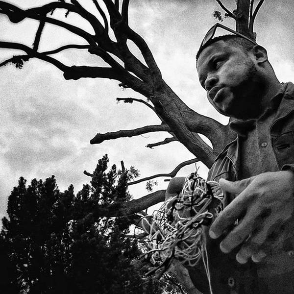 Portrait Photograph - Street Vendor  #man #tree #portrait by Rafa Rivas