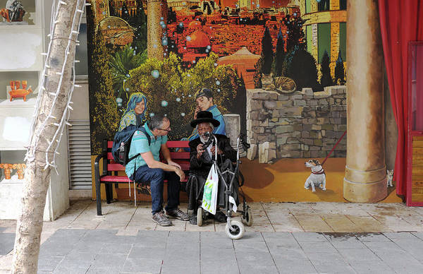 Photograph - Street View In Jerusalem by Dubi Roman
