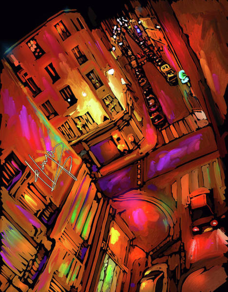 Painting - Street View, Paris, 11th Arrondissement Of Paris by DC Langer