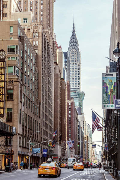 Wall Art - Photograph - Street View With Chrysler Building, New York, Usa by Matteo Colombo
