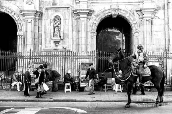 Photograph - Street Watching In Santiago Chile by John Rizzuto