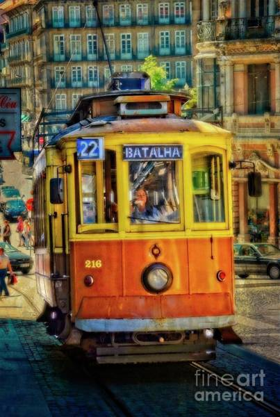 Wall Art - Photograph - Streetcar 22 - Porto by Mary Machare