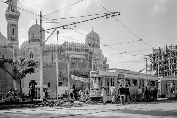 Photograph - Streetcar In Egypt 1986 by Pete Hendley