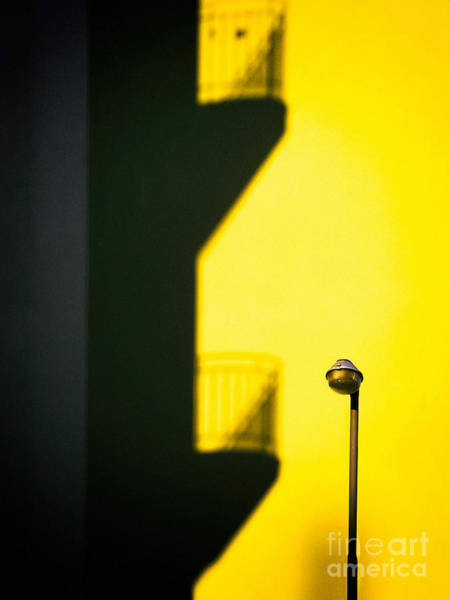 Photograph - Streetlamp And Balconies Shadow by Silvia Ganora