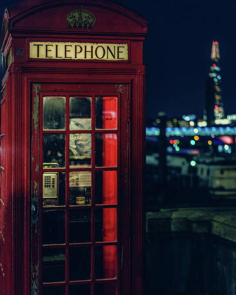 Photograph - Streetlevel London Red by Nisah Cheatham