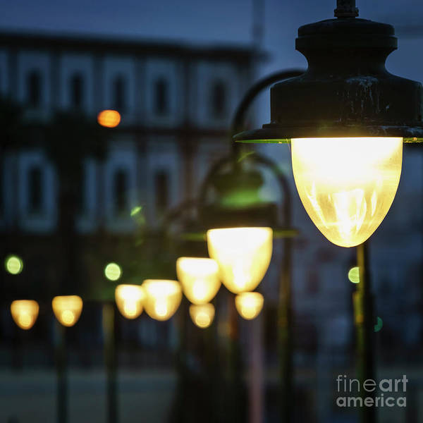 Photograph - Streetlights La Caleta Cadiz Spain by Pablo Avanzini