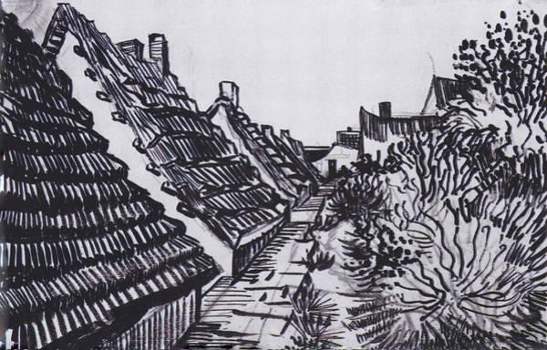 Drawing - Streets In Saintes-maries by Vincent van Gogh