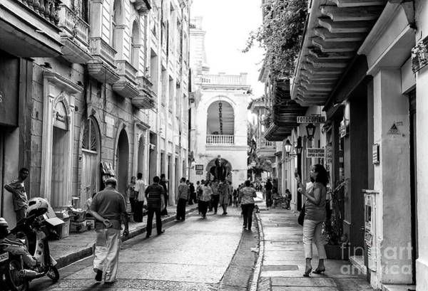 Cartagena Photograph - Streets Of Cartagena by John Rizzuto