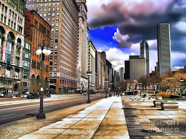 Digital Art - Streets Of Chicago by Kathy Tarochione