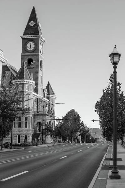 Fayetteville Photograph - Streets Of Downtown Fayetteville Arkansas In Black And White by Gregory Ballos