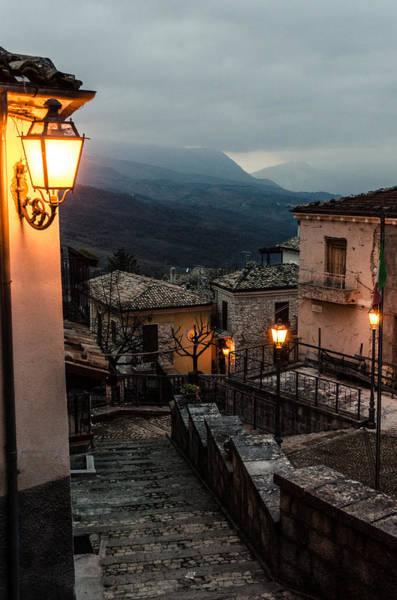 Tramonto Photograph - Streets Of Italy - Caramanico by Andrea Mazzocchetti