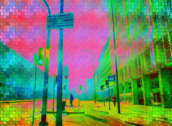 Mixed Media - Streets Of Milan by Michelle Dallocchio