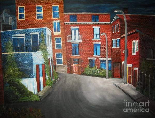 Quebec Painting - Streets Of Montreal  Joly by Reb Frost