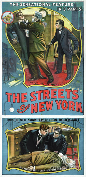 Drawing - Streets Of New York, 1913.  by Granger