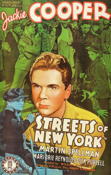 Wall Art - Mixed Media - Streets Of New York 1939 by Mountain Dreams
