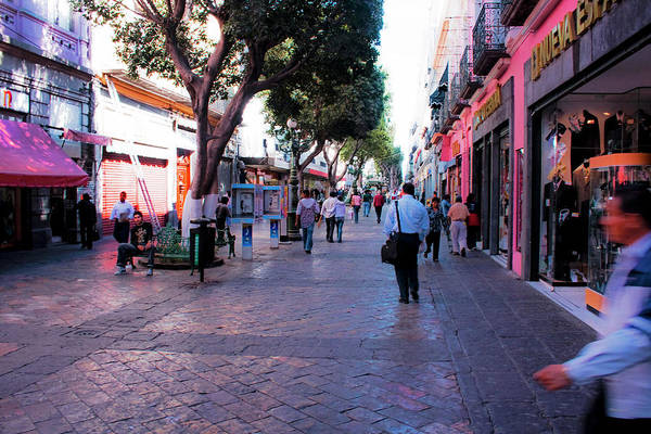 Photograph - Streets Of Puebla 4 by Lee Santa