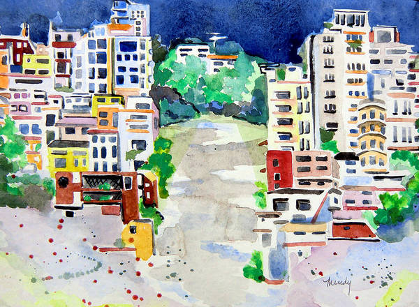 Wall Art - Painting - Streets Of San Francsico by Mindy Newman