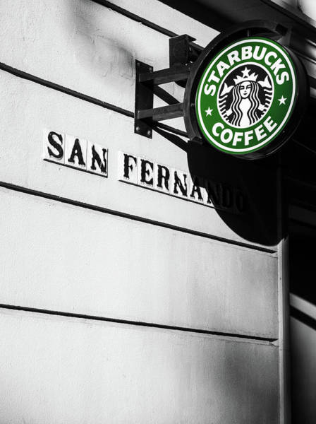 Photograph - Streets Of Seville - Starbucks by Andrea Mazzocchetti