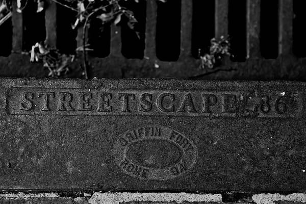Storm Drain Photograph - Streetscape '36 by Jason Blalock