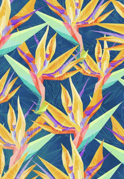 Wall Art - Digital Art - Strelitzia Pattern by Vess DSign